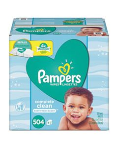 PGC75473 COMPLETE CLEAN BABY WIPES, 1 PLY, BABY FRESH, 504/PACK
