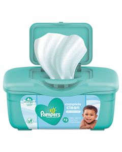 PGC75476 COMPLETE CLEAN BABY WIPES, 1 PLY, BABY FRESH, 72 WIPES/TUB, 8 TUBS/CARTON