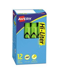 AVE24020 HI-LITER DESK-STYLE HIGHLIGHTERS, CHISEL TIP, FLUORESCENT GREEN, DOZEN