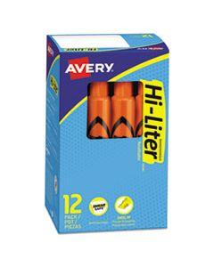 AVE24050 HI-LITER DESK-STYLE HIGHLIGHTERS, CHISEL TIP, FLUORESCENT ORANGE, DOZEN