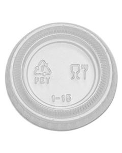 DXEPL10CLEAR PLASTIC PORTION CUP LID, FITS 1 OZ PORTION CUPS, CLEAR, 4800/CARTON