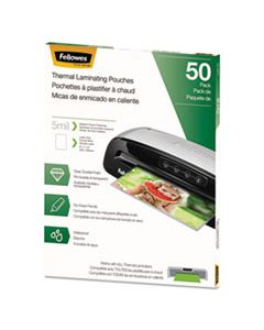 """FEL5744501 THERMAL LAMINATING POUCHES, 5 MIL, 9"""" X 11.5"""", MATTE CLEAR, 50/PACK"""