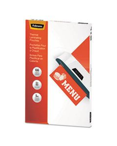 """FEL5746001 THERMAL LAMINATING POUCHES, 5 MIL, 11.5"""" X 17.5"""", MATTE CLEAR, 100/PACK"""