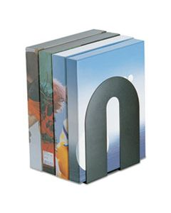 "OIC93142 HEAVY DUTY BOOKENDS, NONSKID, 8"" X 8"" X 10"", STEEL, BLACK"