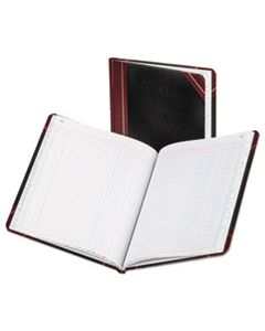 BOR211502 COLUMNAR ACCOUNTING BOOK, TWO COLUMN, BLACK COVER, 150 PAGES, 8 1/8 X 10 3/8