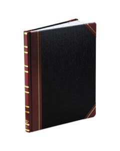 BOR1602123F RECORD RULED BOOK, BLACK COVER, 300 PAGES, 10 1/8 X 12 1/4