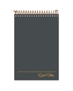 TOP20808 GOLD FIBRE STENO BOOKS, GREGG RULE, GRAY COVER, 6 X 9, 100 WHITE SHEETS