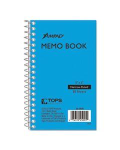 TOP25095 MEMO BOOKS, NARROW RULE, 5 X 3, WHITE, 50 SHEETS
