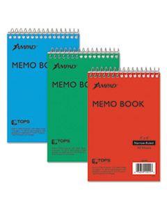 TOP45094 MEMO BOOKS, NARROW RULE, 6 X 4, WHITE, 40 SHEETS, 3/PACK