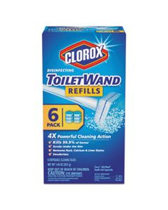CLO14882 DISINFECTING TOILETWAND REFILL HEADS, 6/PACK