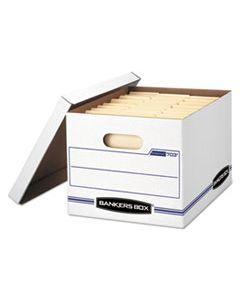 "FEL0070333 STOR/FILE BASIC-DUTY STORAGE BOXES, LETTER/LEGAL FILES, 12"" X 16.25"" X 10.5"", WHITE, 20/CARTON"