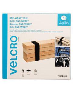 "VEK30640 ONE-WRAP CUT-TO-FIT STANDARD-TIES, 0.75"" X 49 FT, BLACK"