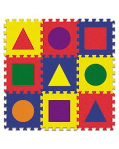 CKC4354 WONDERFOAM EARLY LEARNING, SHAPE TILES, AGES 2 AND UP