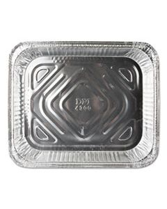 DPKFS4300100 ALUMINUM STEAM TABLE PANS, HALF SIZE, SHALLOW, 100/CARTON