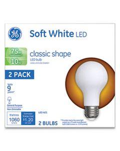 GEL31180 CLASSIC LED SOFT WHITE NON-DIM A21, 10 W, 2/PACK