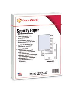 PRB04541 MEDICAL SECURITY PAPERS, 24LB, 8.5 X 11, BLUE, 500/REAM