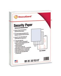 PRB04545 MEDICAL SECURITY PAPERS, 24LB, 8.5 X 11, BLUE, 500/REAM