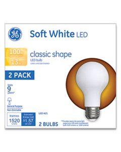 GEL31185 CLASSIC LED SOFT WHITE NON-DIM A21, 13 W, 2/PACK