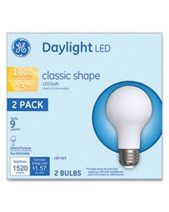 GEL31186 LED CLASSIC DAYLIGHT A21 LIGHT BULB, 13 W, 2/PACK