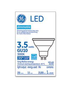 GEL37114 LED MR16 GU10 DIMMABLE WARM WHITE FLOOD LIGHT, 3000K, 3.7 W