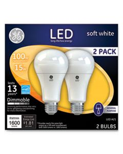GEL65941 LED SOFT WHITE A21 DIMMABLE LIGHT BULB, 15 W, 2/PACK