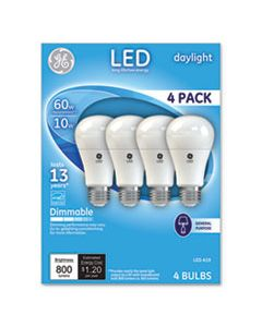 GEL67616 LED DAYLIGHT A19 DIMMABLE LIGHT BULB, 10 W, 4/PACK