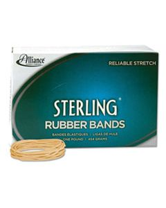 """ALL24195 STERLING RUBBER BANDS, SIZE 19, 0.03"""" GAUGE, CREPE, 1 LB BOX, 1,700/BOX"""