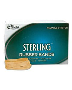 """ALL24645 STERLING RUBBER BANDS, SIZE 64, 0.03"""" GAUGE, CREPE, 1 LB BOX, 425/BOX"""