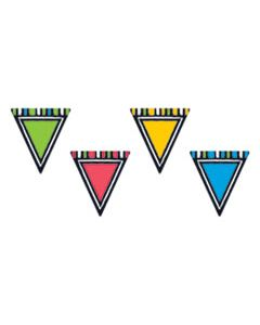 """TEPT10664 BOLD STROKES CLASSIC ACCENTS VARIETY PACK, PENNANTS, ASSORTED, 6"""" X 7.88"""""""