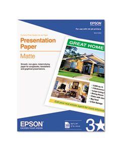 EPSS041062 MATTE PRESENTATION PAPER, 4.9 MIL, 8.5 X 11, MATTE BRIGHT WHITE, 100/PACK