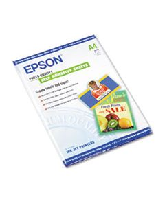 EPSS041106 PHOTO-QUALITY SELF ADHESIVE PAPER, 8.38 X 11.75, MATTE WHITE, 10/PACK