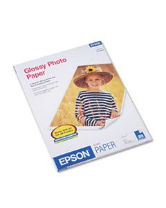 EPSS041141 GLOSSY PHOTO PAPER, 9.4 MIL, 8.5 X 11, GLOSSY WHITE, 20/PACK