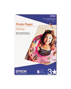 EPSS041143 GLOSSY PHOTO PAPER, 9.4 MIL, 13 X 19, GLOSSY WHITE, 20/PACK