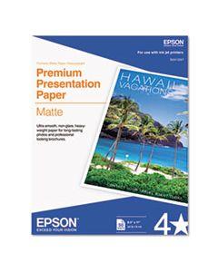 EPSS041257 PREMIUM MATTE PRESENTATION PAPER, 9 MIL, 8.5 X 11, MATTE BRIGHT WHITE, 50/PACK