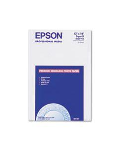 EPSS041327 PREMIUM PHOTO PAPER, 10.4 MIL, 13 X 19, SEMI-GLOSS WHITE, 20/PACK