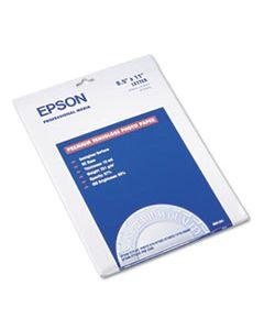 EPSS041331 PREMIUM PHOTO PAPER, 10.4 MIL, 8.5 X 11, SEMI-GLOSS WHITE, 20/PACK