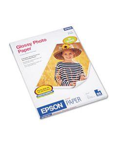EPSS041649 GLOSSY PHOTO PAPER, 9.4 MIL, 8.5 X 11, GLOSSY WHITE, 50/PACK