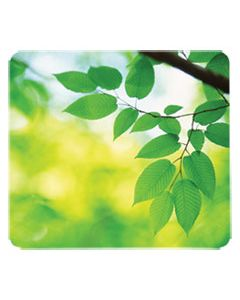 FEL5903801 RECYCLED MOUSE PAD, NONSKID BASE, 9 X 8 X 1/16, LEAVES