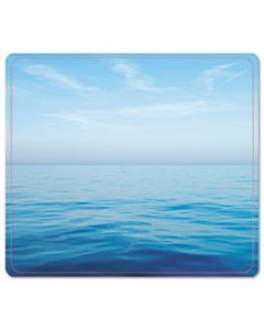 FEL5903901 RECYCLED MOUSE PAD, NONSKID BASE, 7 1/2 X 9, BLUE OCEAN