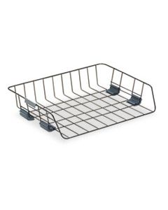 """FEL62112 SIDE-LOAD WIRE STACKING LETTER TRAY, 1 SECTION, LETTER SIZE FILES, 13.38"""" X 10.13"""" X 2.63"""", BLACK"""
