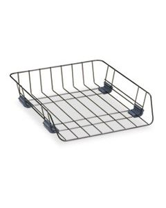 """FEL66112 FRONT-LOAD WIRE DESK TRAY, 1 SECTION, LETTER SIZE FILES, 10.88"""" X 12.63"""" X 2.63"""", BLACK"""