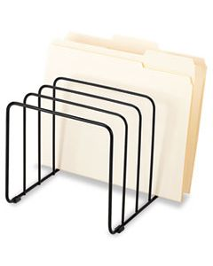 """FEL72351 WIRE VERTICAL FILE, 5 SECTIONS, LETTER TO LEGAL SIZE FILES, 10.25"""" X 8"""" X 7.44"""", BLACK"""