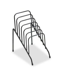 """FEL72613 WIRE STEP FILE JR., 6 SECTIONS, DL TO A5 SIZE FILES, 4.38"""" X 6.5"""" X 7.75"""", BLACK"""