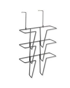 FEL75810 WIRE PARTITION ADDITIONS THREE-POCKET ORGANIZER, 12 5/8 X 23 1/4, BLACK