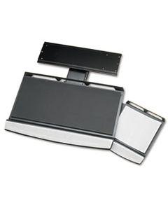 FEL8031301 OFFICE SUITES ADJUSTABLE KEYBOARD MANAGER, 21.25W X 10D, BLACK/SILVER