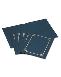 GEO45332 CERTIFICATE/DOCUMENT COVER, 12 1/2 X 9 3/4, NAVY BLUE, 6/PACK