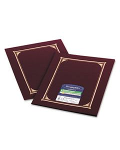 GEO45333 CERTIFICATE/DOCUMENT COVER, 12 1/2 X 9 3/4, BURGUNDY, 6/PACK