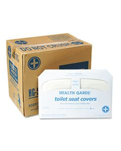 HOSHG5000CT HEALTH GARDS TOILET SEAT COVERS, WHITE, 250 COVERS/PACK, 20 PACKS/CARTON