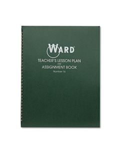 HUB16 LESSON PLAN BOOK, WIREBOUND, 6 CLASS PERIODS/DAY, 11 X 8-1/2, 100 PAGES, GREEN