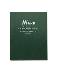 HUB18 LESSON PLAN BOOK, WIREBOUND, 8 CLASS PERIODS/DAY, 11 X 8-1/2, 100 PAGES, GREEN